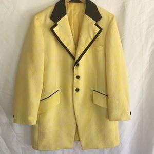 Yellow dress coat